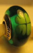 New Authentic Pandora Silver 925 Ale Kiss Me I'm Irish Murano Glass Bead Charm