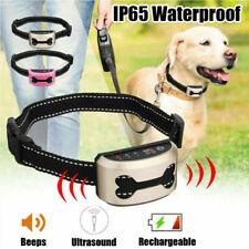 Dog Training Collar Stop Barking Device Electric Shock Anti Bark Pet Control UK
