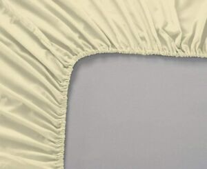 EgyptianCotton 950TCBrand New~Cozy 5pcs Fitted Sheet UK~Sizes Ivory 11inch deep
