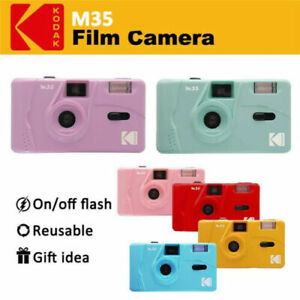 Kodak Vintage retro M35 35mm Reusable Film Camera Pink Purple YE Green Film Pink