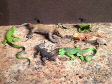 Lot Of 7 Safari Ltd Reptile Figures Komodo Dragon, Iguanas &  More