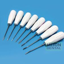 8Pcs/Set White Super stainless steel Minimallyinvasive Teeth Root Elevators Aus