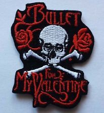 BULLET FOR MY VALENTINE Embroidered or Sew On Patch UK SELLER Patches