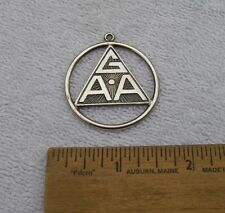Vintage GAA Triangle Logo Sterling PENDANT-Signed FROST-Girls Athletic Assn?