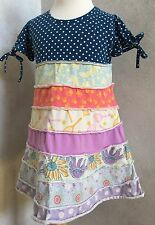 Girls Matilda Jane Good Hart Yacht Club Wendy Tiered Dress Size 10 EUC