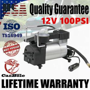 12V 100 PSI Portable Electric Car Tyre Auto Tire Inflator Pump Air Compressor