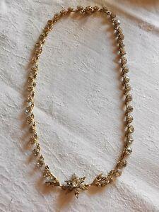 Vintage Gold Colour and Paste Star Flower Necklace