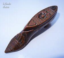 jolie  tabatière en forme de chaussure - tabac - art populaire