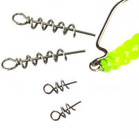 Soft Lure Baits Hook Pin Spring Fixed Lock Fishing Screw Needle for Soft Worm