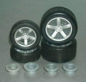 1/18 Scale Miniature Tire Set w/ Plymouth Prowler Rims Model Diorama Accessories
