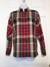 Lauren Ralph Lauren tartan plaid wool blouse shirt size P / M  Women