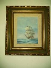 Original Rupert Hydan Hand-Painted American Sailing Ship Oil Painting signed