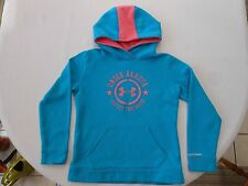 Under Armour Storm Protect this House Girls YMD Medium Turquoise/Pink hoodie-GUC