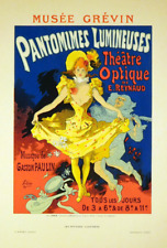 Pantomimes Lumineuses Original 1896 Color Lithograph after Jules Cheret
