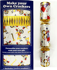Set of 12 Flat Pack Make Your Own Christmas Crackers - 12 days of Xmas design