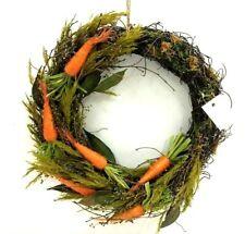 "Sisal Carrot Twig Wreath~Dried Greenery~Berries~Leaves~Artificial~16"""