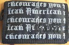 American Geldtasche - Börse mit Klettverschluß - schwarz 14x10x3cm