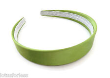 Pack of 12 Wide Satin Headband Hair band Alice Band in Green 2.5 cms width