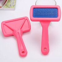 Pet Puppy Dog Cat Hair Shedding Grooming Trimmer Fur Comb Brush Slicker Tool New