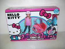 Hello Kitty Playwheels Heel Wheel Shoe Skates Light Up New