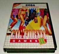 California Games II Sega Master System *No Manual*
