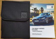 GENUINE BMW 3 SERIES SALOON F30 HANDBOOK OWNERS MANUAL WALLET 2015-2017 # C-84