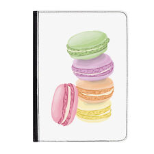 """French Macaroons France Cute Universal 7"""" Leather Flip Case Cover"""