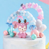 Pompom Cloud Cake Topper Baby Shower Birthday DIY Party Decoration Supplies