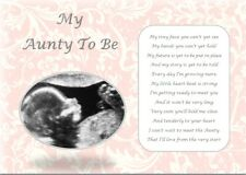 AUNTY TO BE GIFT - Laminated Gift (YOUR SCAN PHOTO PRINTED)