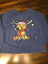3T Christmas Sweater Dog Reindeer Blue Class Club