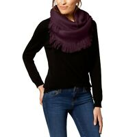INC International Concepts fringe infinity loop knit women's scarf -WINE