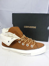 CONVERSE ALL STAR TWO FOLD SUEDE HI II TRAINERS TAN  SIZE 3 UK EM 626