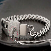 Steel Bangle  Bracelet and Key Pendant Necklace Sets Love Gifts Couple Titanium
