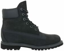 """Womens Ladies Timberland 6"""" 6 Inch Grey Boots Shoes Lace Up Leather Nubuck Size"""