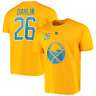 Buffalo Sabres T-Shirt Fanatics Men's NHL Dahlin 26 T-Shirt - Gold - New