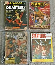 Lot 4 Pulp Science Fiction Magazines 1940s-50s Startling Planet Stories Vintage