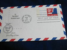 Scott US UXC10, 9 Cent Rate Increase Air Mail Postcard, Artmaster FDC 1971