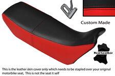 Noir et rouge custom fits honda nx 650 dominator 89-91 double housse siège en cuir