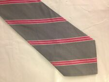 Mens Gray Pink White Tie Necktie  (5029)