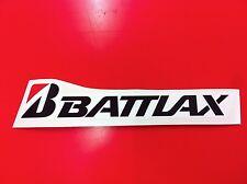 1 Adesivo BRIDGESTONE BATTLAX sponsor moto auto Black 30 cm.