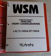 2008 KUBOTA TRACTOR  L45/ FRONT LOADER TL1000A / BACKHOE BT1000A WORKSHOP MANUAL