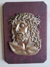 Volto di Cristo in ottone