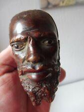schöne, antike Pfeife , Gesicht Orientale , Hartholz geschnitzt , original