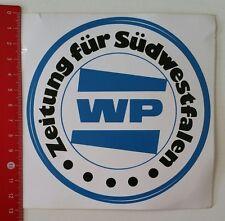 Aufkleber/Sticker: WP - Zeitung für Südwestfalen (130217178)