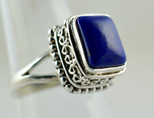 Lapis Lazuli 925 Solid Sterling Silver Handmade Ring Size  F to Z 1/2 UK