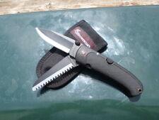 VTG BROWNING JAPAN MODEL 607 FOLDING LOCKBACK Hunting KNIFE & Saw 2 blade