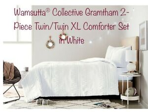 Wamsutta® Collective Gramtham 2-Piece Twin/Twin XL Comforter Set in White