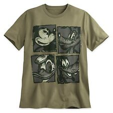 Disney Mens TShirt Size 2XL XXL Green Mickey Mouse Friends Donald Goofy Pluto
