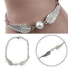 Retro Fashion Harry Potter Snitch Coppery Silvery Wing Pendant Bracelet