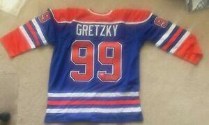 Wayne Gretzky #99 Edmonton Oilers Jersey Autographed Signed Beckett BAS LOA